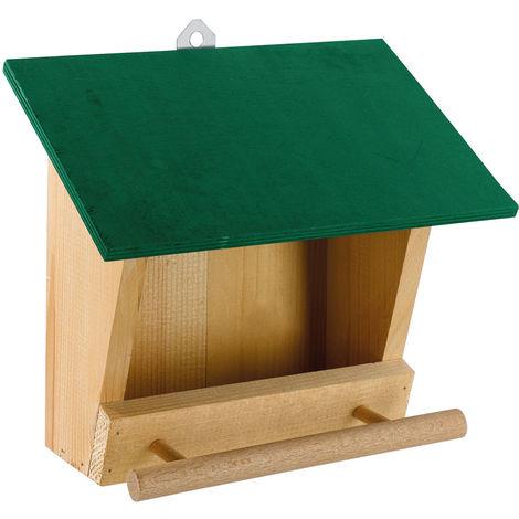 Ferplast FEEDER 4 Mangiatoia da esterno per uccelli selvatici in legno ecosostenibile. Variante FEEDER 4 - Misure: 25 x 13,6 x h 22,2 cm -
