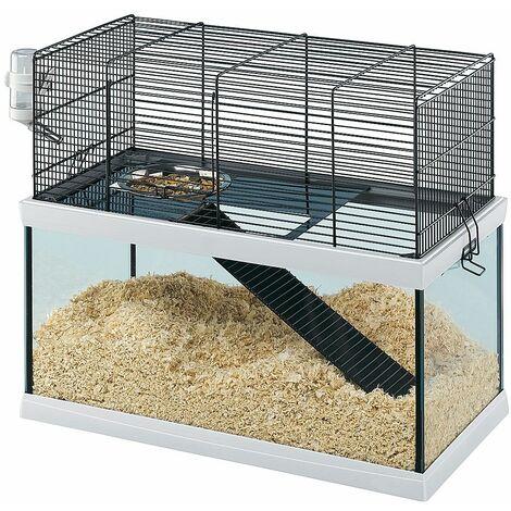 Ferplast GABRY 50 Habitat à deux niveaux pour gerbilles. Variante GABRY 50 - Mesures: 52 x 27 x h 44 cm -