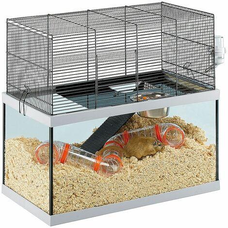 Ferplast GABRY 60 Habitat à deux étages pour gerbilles. Variante GABRY 60 - Mesures: 60 x 31,5 x h 52 cm -