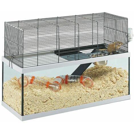 Ferplast GABRY 80 Habitat à 2 étages pour gerbilles. Variante GABRY 80 - Mesures: 79 x 30,5 x h 51,4 cm -