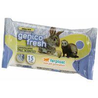 Ferplast GENICO FRESH SMALL PETS Salviette detergenti umidificate. Al talco - 15 pezzi. Variante GENICO FRESH 15 SMALL PETS - Misure: 13 x h 20 cm -
