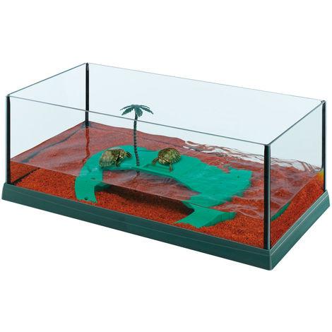 Ferplast HAITI 50 Vasca in vetro per tartarughe. Variante HAITI 50 - Misure: 51,5 x 27 x h 18,5 cm -