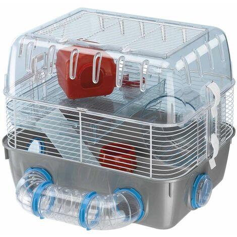 Ferplast Hamster Cage Combi 1 Fun Grey 40.5x29.5x32.5 cm 57926499 - Grey