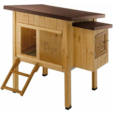 Ferplast HEN HOUSE 10 Casetta per galline in legno di pino nordico. Variante HEN HOUSE 10 - Misure: 124 x 98 x h 110 cm -