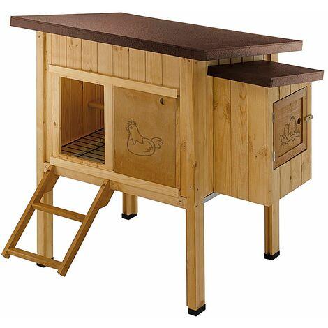 Ferplast HEN HOUSE 10 Maisonnette pour poules en bois de pin nordique. Variante HEN HOUSE 10 - Mesures: 124 x 98 x h 110 cm -