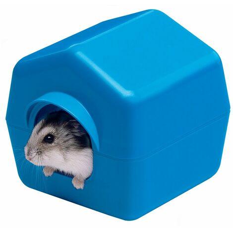 Ferplast ISBA Maisonnette en plastique pour petits rongeurs. Variante ISBA 4638 - Mesures: 10,4 x 11,4 x h 11 cm -