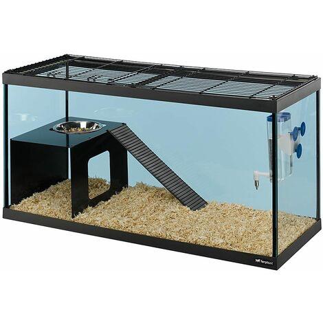 Ferplast ITACA Cage en verre pour souris et rats. Variante ITACA - Mesures: 79 x 30,5 x h 39,5 cm - 110 L -