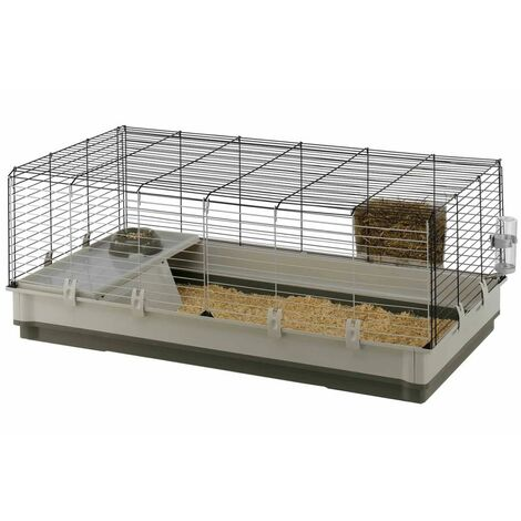 Ferplast KROLIK Cage pour lapins et cochons d'Inde avec un ample espace de vie.