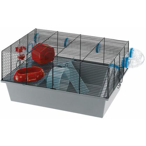Ferplast MILOS LARGE Cage pour souris et hamsters. Variante MILOS LARGE - Mesures: 58 x 38 x h 30,5 cm -