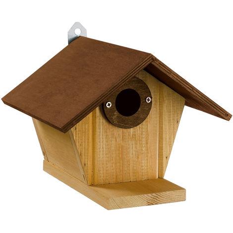 Ferplast NEST 3 Nid d'extérieur pour oiseaux sauvages en bois écologique. Variante NEST 3 - Mesures: 21 x 21,3 x h 16,6 cm -