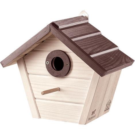 Ferplast NEST 4 Nido da esterno per uccelli selvatici in legno ecosostenibile. Variante NEST 4 - Misure: 25,8 x 15,8 x h 22 cm -