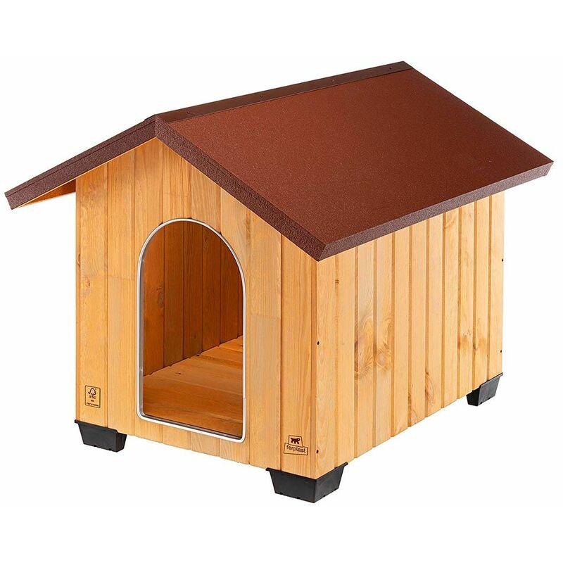 Ferplast DOMUS Niche pour chiens en bois FSC - 6 tailles. Variante EXTRA LARGE - Mesures: 92 x 111,5 x h 90 cm -