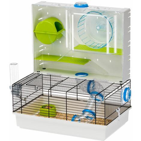Ferplast OLIMPIA Cage modulable pour hamsters et souris avec aire de jeux. Variante OLIMPIA - Mesures: 46 x 29,5 x h 54 cm -