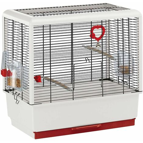 Ferplast PIANO 3 Cage pour canaris et autres petits oiseaux. Variante PIANO 3 - Mesures: 50 x 30 x h 52,5 cm -