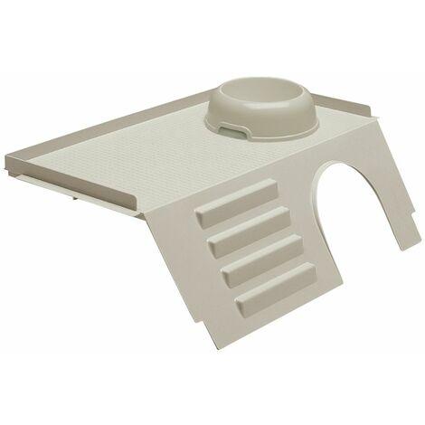 """main image of """"Ferplast PUB 3243 Maisonnette en plastique pour cages Cavie 80 et Casita 80. Variante PUB 3243 - Mesures: 44 x 26 x h 15 cm -"""""""