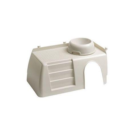Ferplast PUB 3252 Maisonnette en plastique pour cage Cavie 100 Deluxe et Rabbit 140. Variante PUB 3252 - Mesures: 42 x 25 x h 16,5 cm -