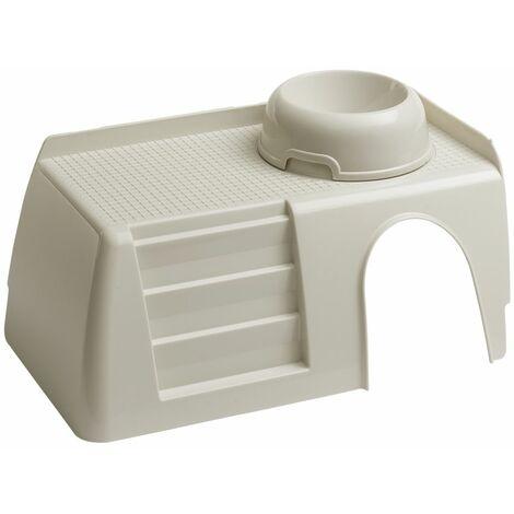 Ferplast PUB 3253 Maisonnette en plastique pour cage Cavie 15. Variante PUB 3253 - Mesures: 42 x 25 x h 16,5 cm -