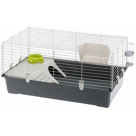 Ferplast RABBIT 100 Cage pour lapins. Variante 100 - Mesures: 95 x 57 x h 46 cm -