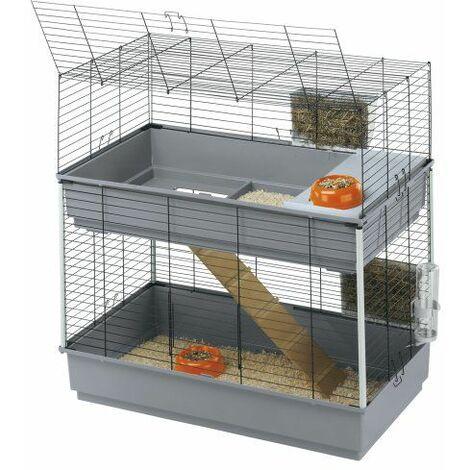Ferplast RABBIT 100 DOUBLE Cage à 2 étages pour lapins. Variante RABBIT 100 DOUBLE - Mesures: 95 x 57 x h 93,5 cm -
