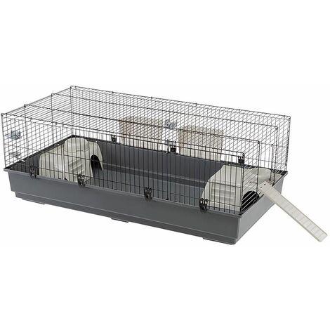 Ferplast RABBIT 140 Cage pour lapins avec rampe d'accès latéral. Variante RABBIT 140 - Mesures: 140 x 71 x h 51 cm -