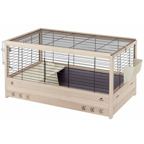 Ferplast Rabbit Cage Arena 100/120 Small Animal House Hutch Rodent Cage with Food Bowl Water Bottle Indoor 100x62.5x51/125x64.5x51 cm