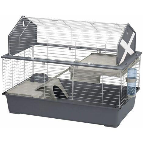 Ferplast Rabbit Cage Barn 100 96x57x73 cm Grey - Grey