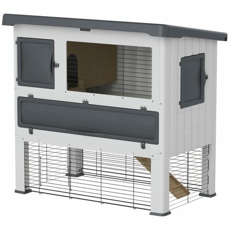 Ferplast Rabbit Hutch Grand Lodge 120 Plastic Grey 57085360