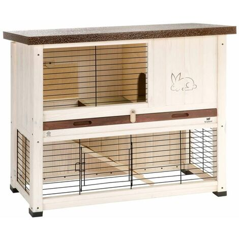 Ferplast Rabbit Hutch Ranch 100 Basic 92x47x81 cm White - White