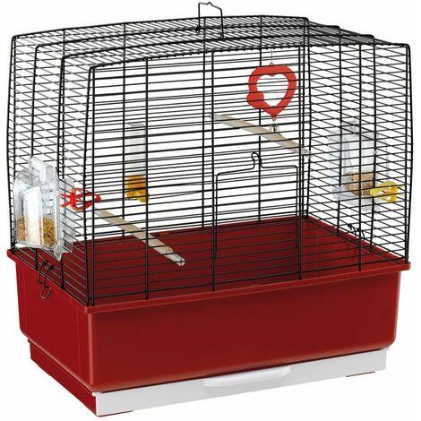 Ferplast REKORD 3 Cage pour canaris, perruches et autres petits oiseaux. Variante REKORD 3 - Mesures: 49 x 30 x h 48,5 cm - Noir