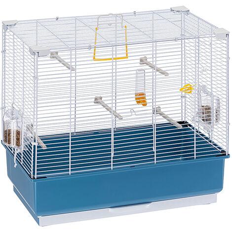 Ferplast REKORD 4 Cage pour canaris et autres petits oiseaux. Variante REKORD 4 - Mesures: 60 x 32,5 x h 57,5 cm - Blanc