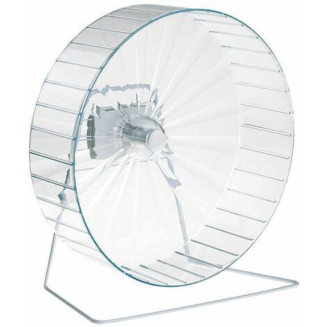 Ferplast Roue FPI 4607 Grande roue en plastique pour hamsters avec socle. Variante FPI 4607 - Mesures: 18 x h 31,5 cm - Ø 30,4 cm - Coloris assortis - Coloris assortis