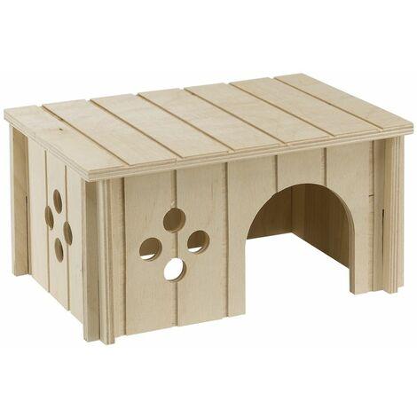 Ferplast SIN 4645 Maisonnette pour cochons d'Inde en bois écologique. Variante SIN 4645 - Mesures: 26 x 17,3 x h 13 cm -