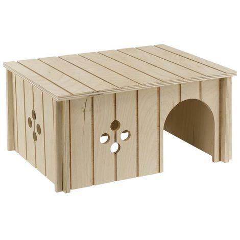 Ferplast SIN 4646 Maisonnette pour lapins en bois écologique