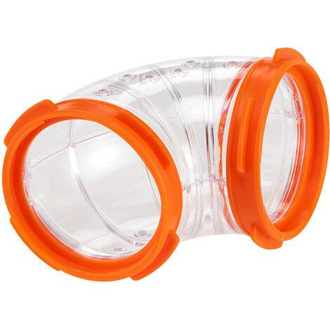 Ferplast Tunnel FPI 4810 CURVE Tube en plastique courbé pour hamsters et d'autres petits rongeurs. Variante FPI 4810 CURVE - Mesures: Ø 6 cm - Coloris assortis - Coloris assortis