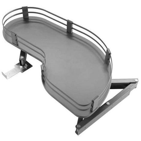 Ferrure d'angle uniko anthracite - Pour caisson de profondeur mini : 500 mm - Pour caisson de largeur mini : 900 mm - Charge : 25 kg - Version : Fil plat - Pour porte largeur maxi : 500 mm - Pour por