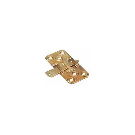 Ferrure d'assemblage à clavette - Matériau : Acier - Hauteur : 77,5 mm - Décor : Laitonné - Version : Droite - Largeur : 40 mm - ITAR - Version : Droite