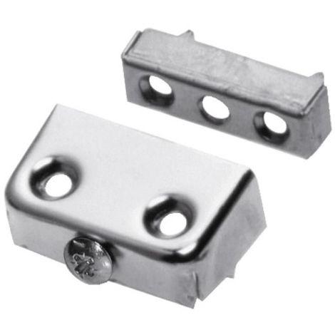 Ferrure d'assemblage acier nickelé x10