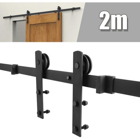 Ferrure de porte coulissante Porte suspendue 200cm pour grange Porte simple