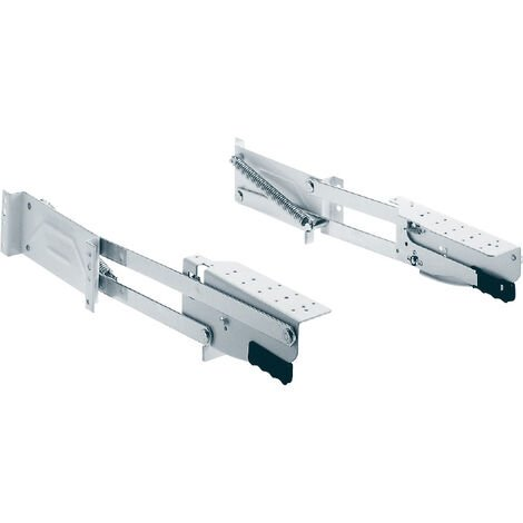Ferrure de table robot - Charge : 8 kg - Pour caisson de profondeur : 470 mm - Décor : Blanc - KESSEBOHMER