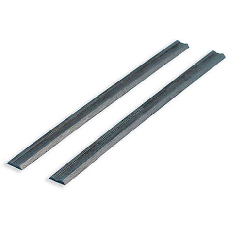 Fers de rabot réversibles 82 x 6 x 1,25 mm - Lot de 2