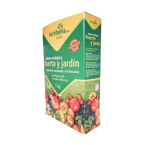 FERTIBERIA Abono Granulado Ecológico de Huerta y Jardín, 1 kg