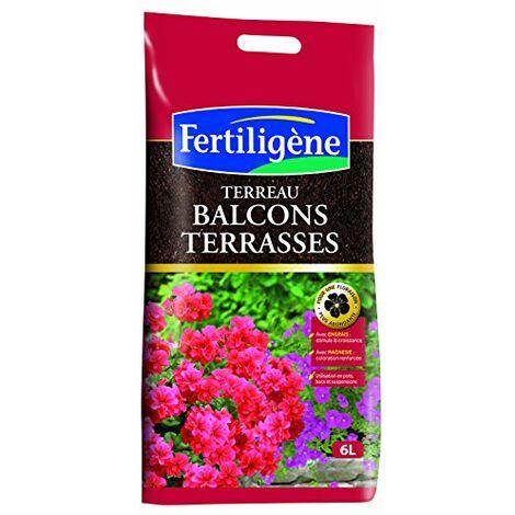 Fertiligene 8456 Terreau Balcons et Terrasses 6 L