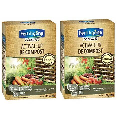 Fertiligene - Activateur de composte Biologique 3KG - Utilisable en Agriculture Biologique - NATCOMPN