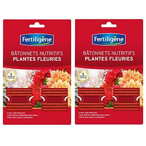 Fertiligene - batonnets nutritifs Plantes Fleuries - Action prolongée 8 semaines - FBPF