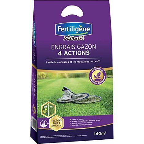 FERTILIGENE Engrais Gazon 4 Actions, 5,6kg, 140m²