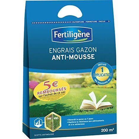 FERTILIGENE Engrais Gazon Antimousse, 7KG, 200m²