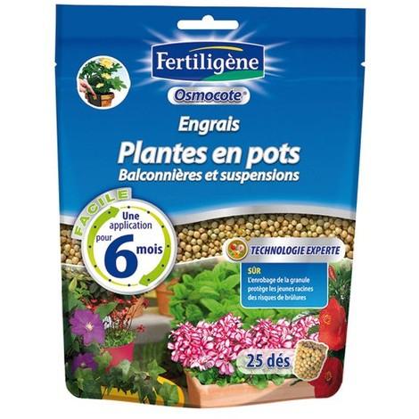 FERTILIGENE - Engrais osmocote plantes en pots doypack de 25 dés