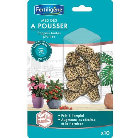 Fertiligène - Mes Dés à Pousser toutes Plantes - 10 pièces