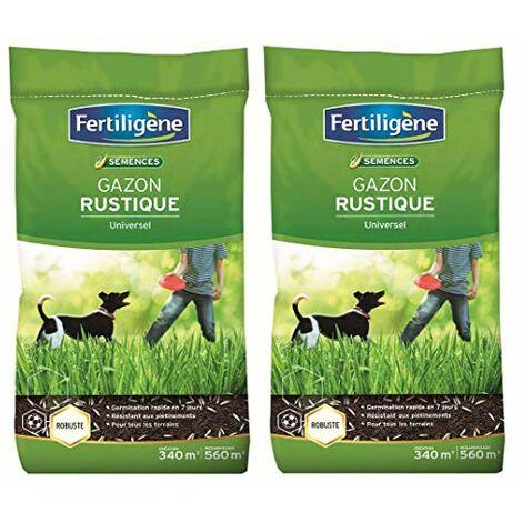 FERTILIGENE Pack semences gazon rustique spéciale grande surface 680m2