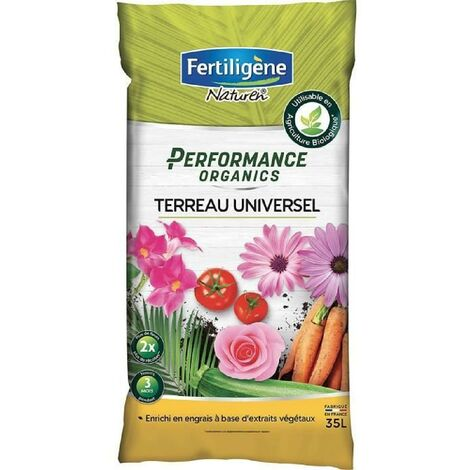 FERTILIGENE Terreau Performance Organics Universel - 35 L